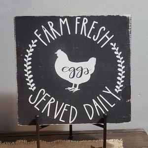 NEW Handmade Farm Fresh Eggs Served Daily Sign